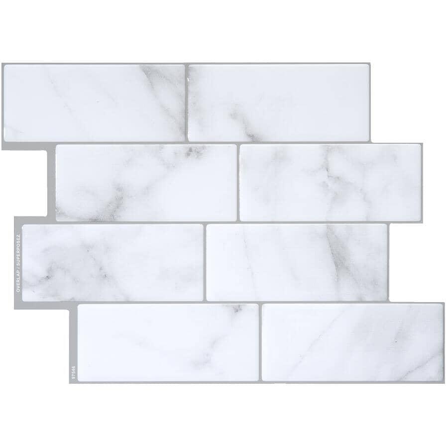 "SMART TILES:Metro Collection Carrera Peel & Stick Backsplash Wall Tiles - 11.56"" x 8.38"", 4 Pack"