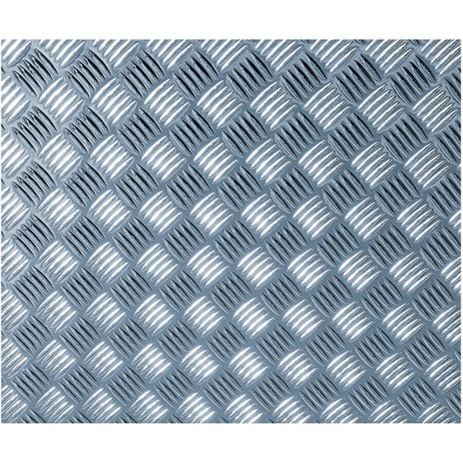 """DC FIX:Chequer Plate Silver Peel & Stick Decor Film - 26"""" x 59"""""""