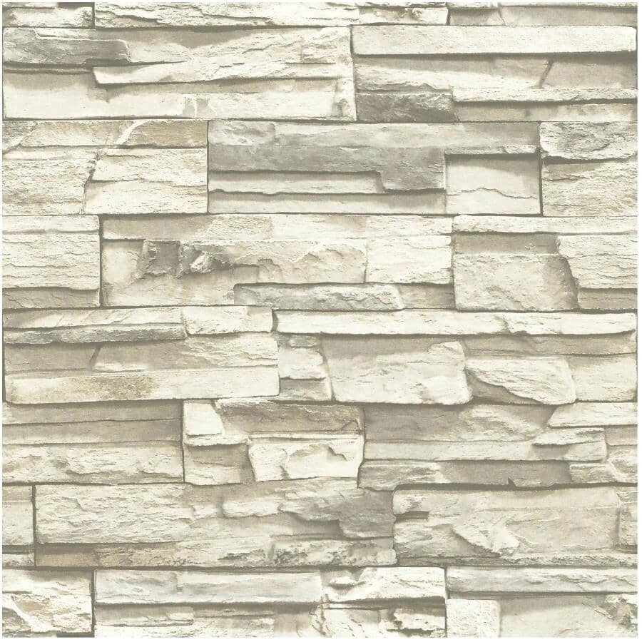 "ROOMMATES:Stacked Stone Peel & Stick Wallpaper - 20.5"" x 16.5'"