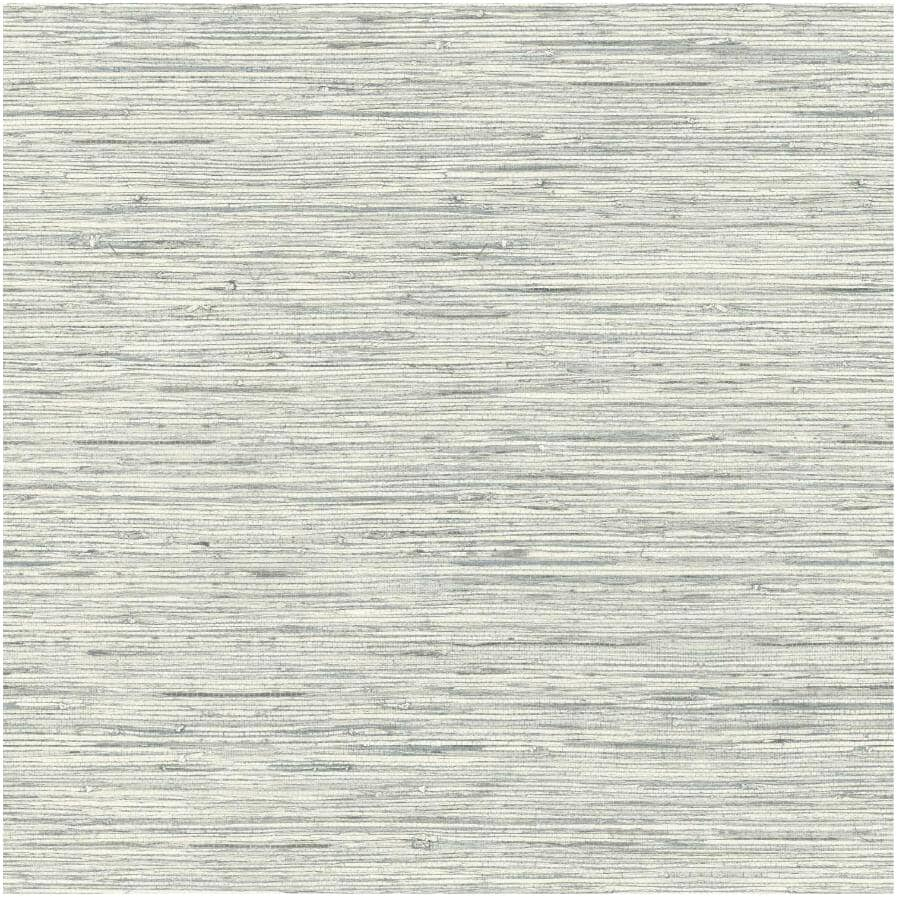 "ROOMMATES:Grasscloth Peel & Stick Wallpaper - Grey, 20.5"" x  16.5'"