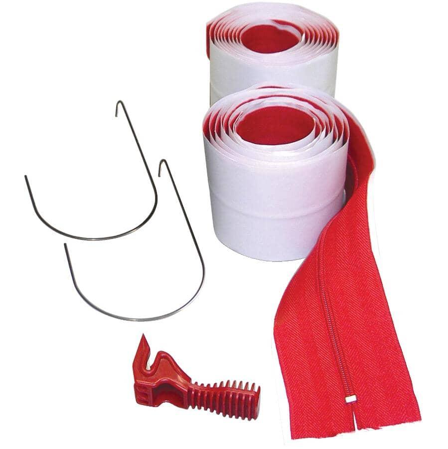 ZIPWALL:Paquet de 2 fermetures à glissière robustes pour barrières antipoussière