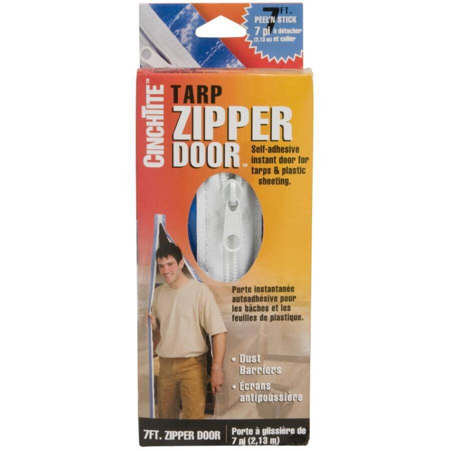CINCH TITE:Porte à fermeture à glissière pour bâche, 7 pi