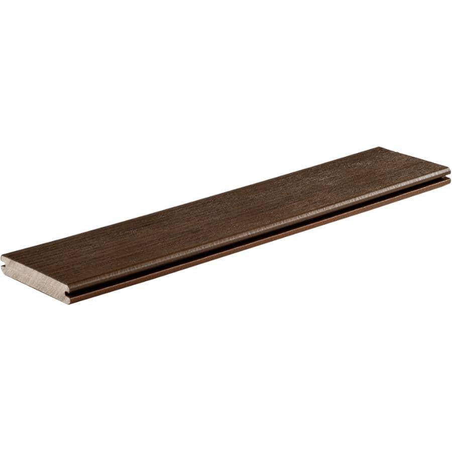 TIMBERTECH:Planche de terrasse Legacy de 1 po x 5-1/2 po x 20 pi avec rebord embouveté, moka
