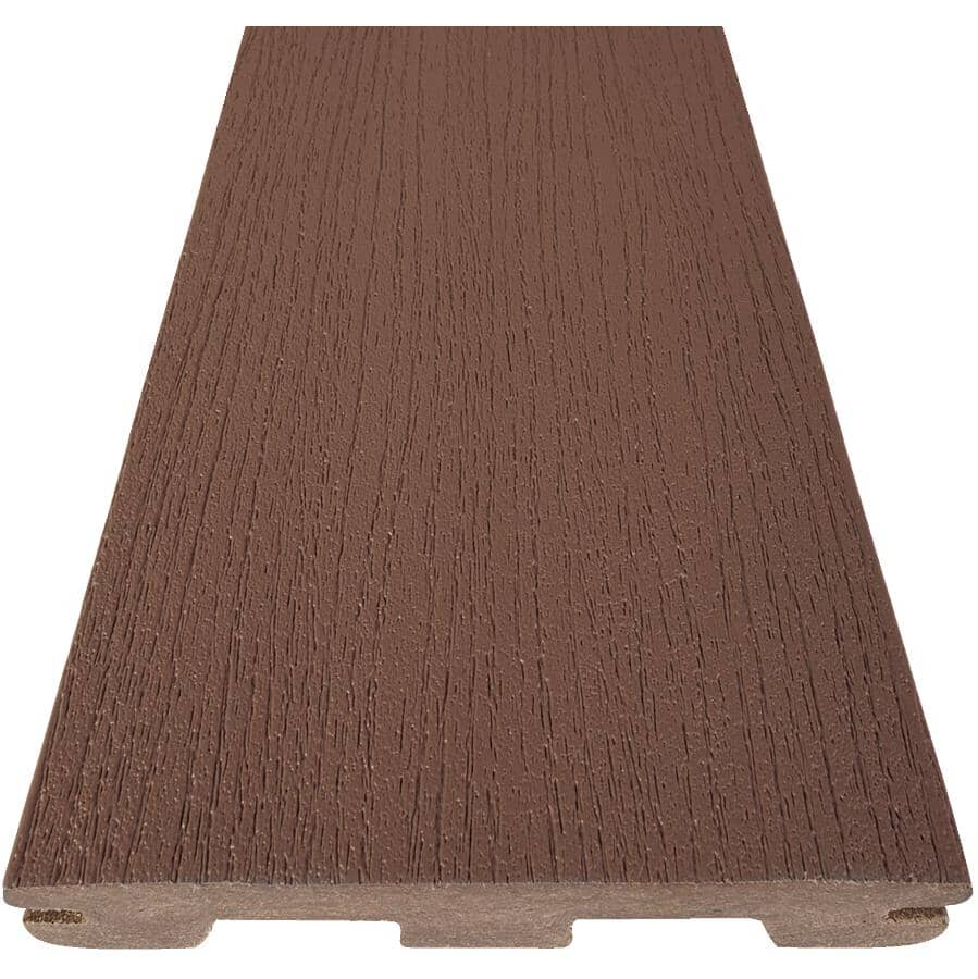"TIMBERTECH:1"" x 5-1/2"" x 16' Edge Prime Dark Teak Grooved Edge Deck Board"