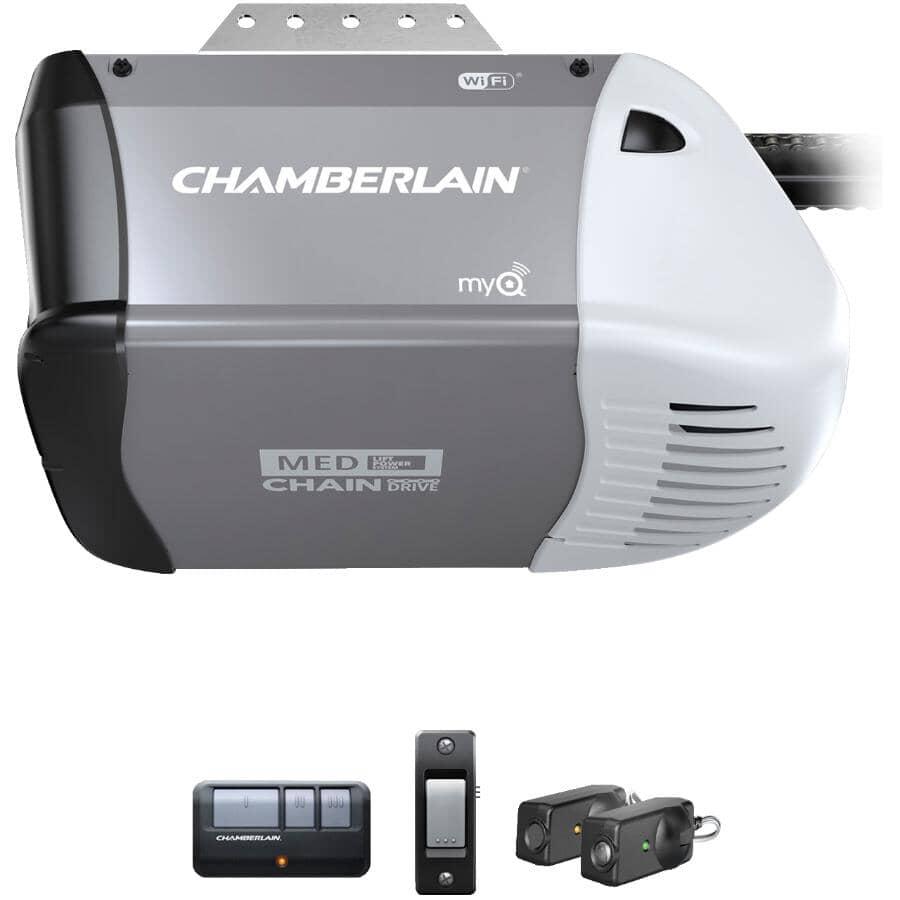CHAMBERLAIN:Chain Wi-Fi Garage Door Opener - 1/2 HP