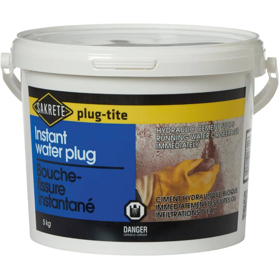 SAKRETE:Ciment hydraulique instantané plug-tite, 5 kg
