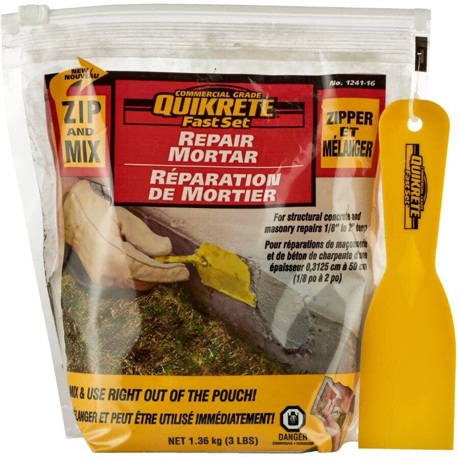 QUIKRETE:1.36kg Zip & Mix Repair Mortar, for Concrete