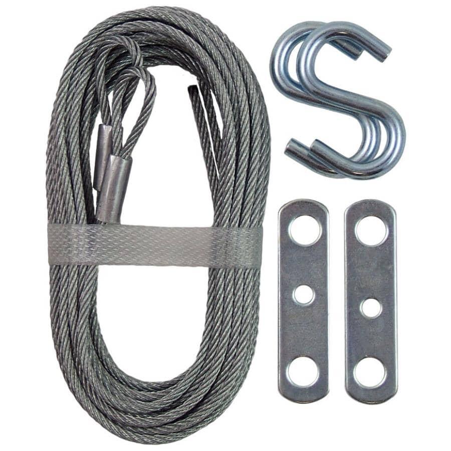 IDEAL SECURITY:Paquet de 2 câbles pour porte de garage de 12 pi 6 po, galvanisé