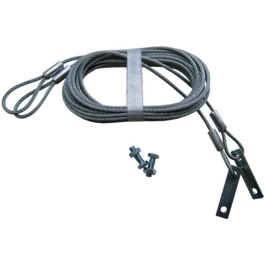 IDEAL SECURITY:Câble de sécurité pour porte de garage de 9 pi, galvanisé