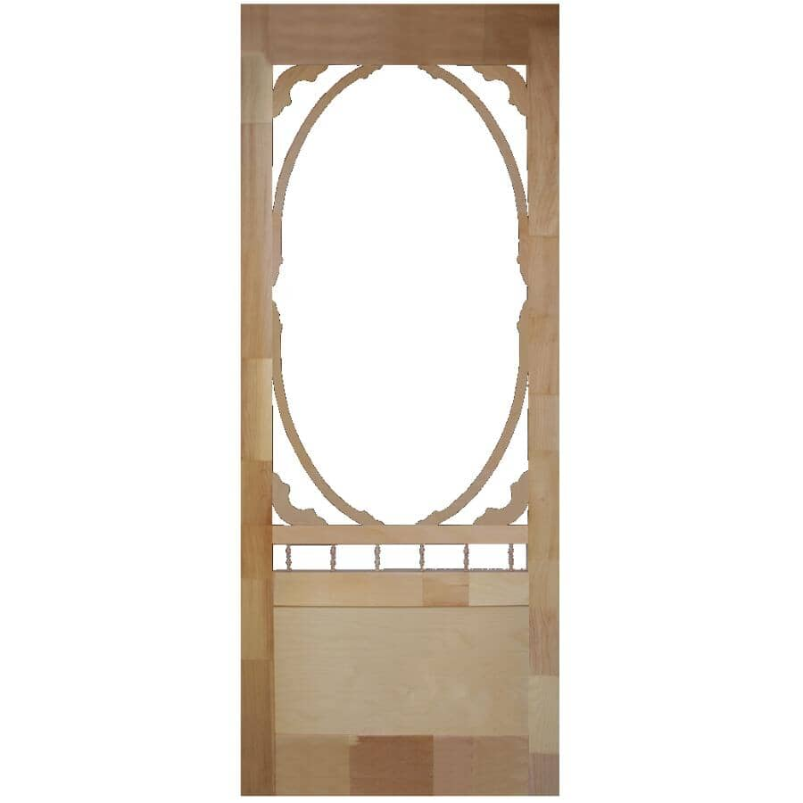 """AMHERST:36"""" x 82"""" Homestead Pine Screen Door"""