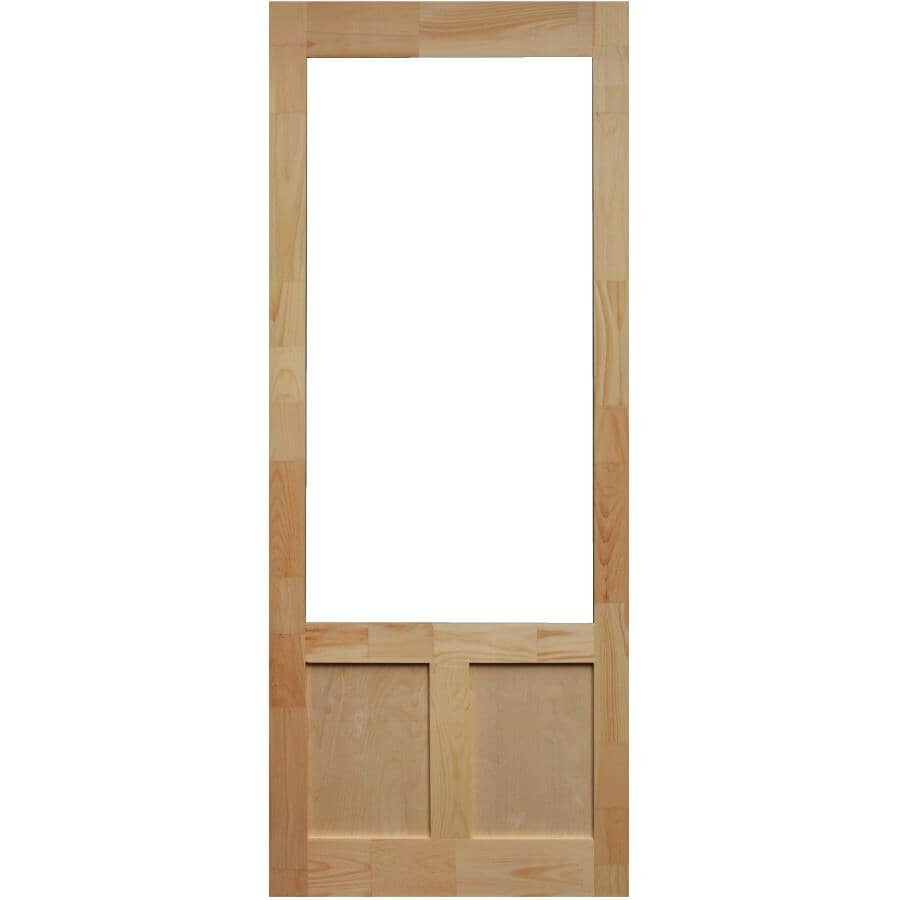 """AMHERST:32"""" x 82"""" Elmwood Pine Screen Door"""