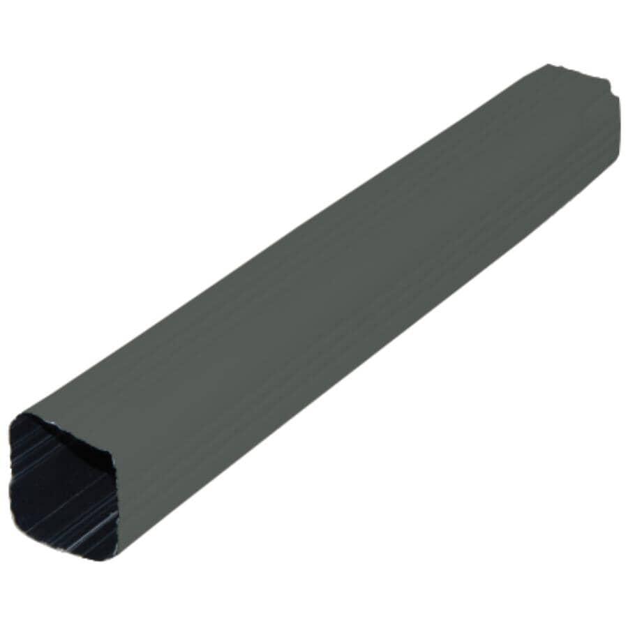 "GENTEK:2-5/8"" x 2-5/8"" x 10' Graphite Aluminum Gutter Downpipe"