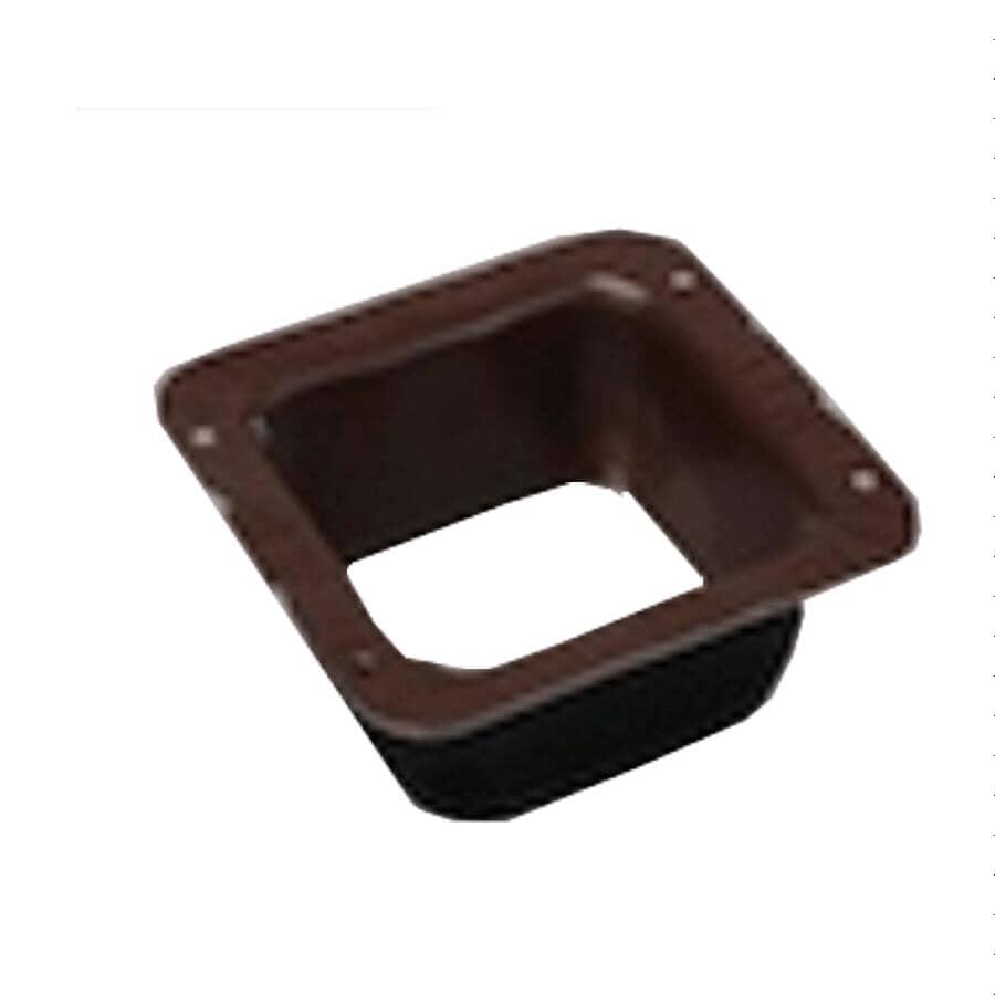 KAYCAN:Connecteur carré pour descente de gouttière en aluminium de 2-1/2 po, usiné