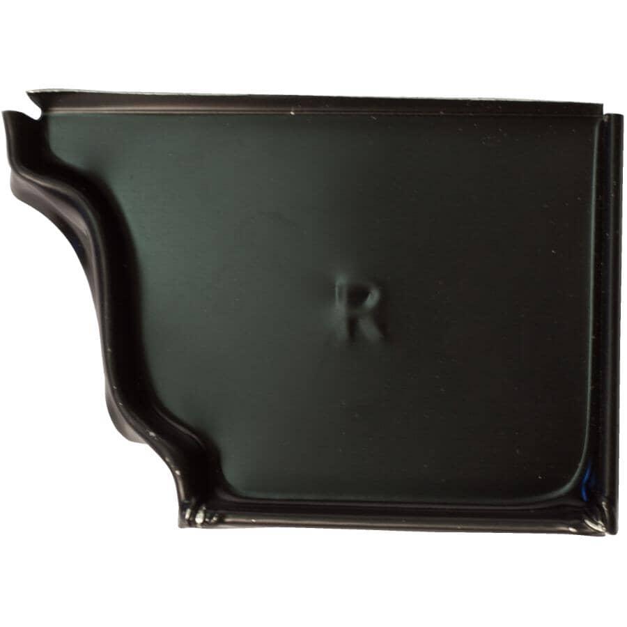 "CITY SHEET METAL:4"" Right Hand K Style Black Aluminum Gutter End Cap"