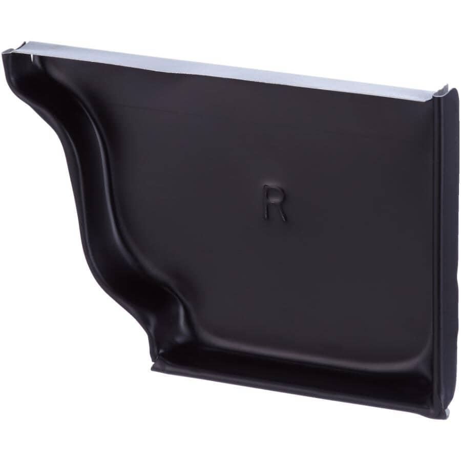"CITY SHEET METAL:5"" Right Hand K Style Black Aluminum Gutter End Cap"