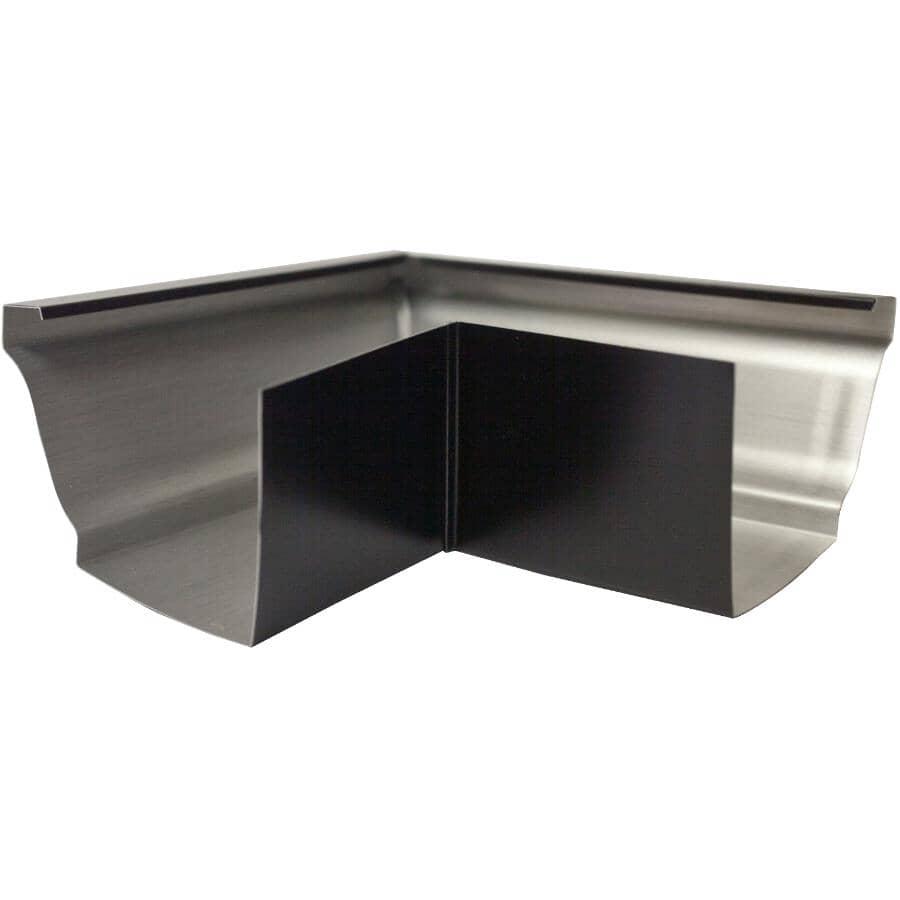 "CITY SHEET METAL:4"" K-Style Black Outside Aluminum Gutter Mitre"