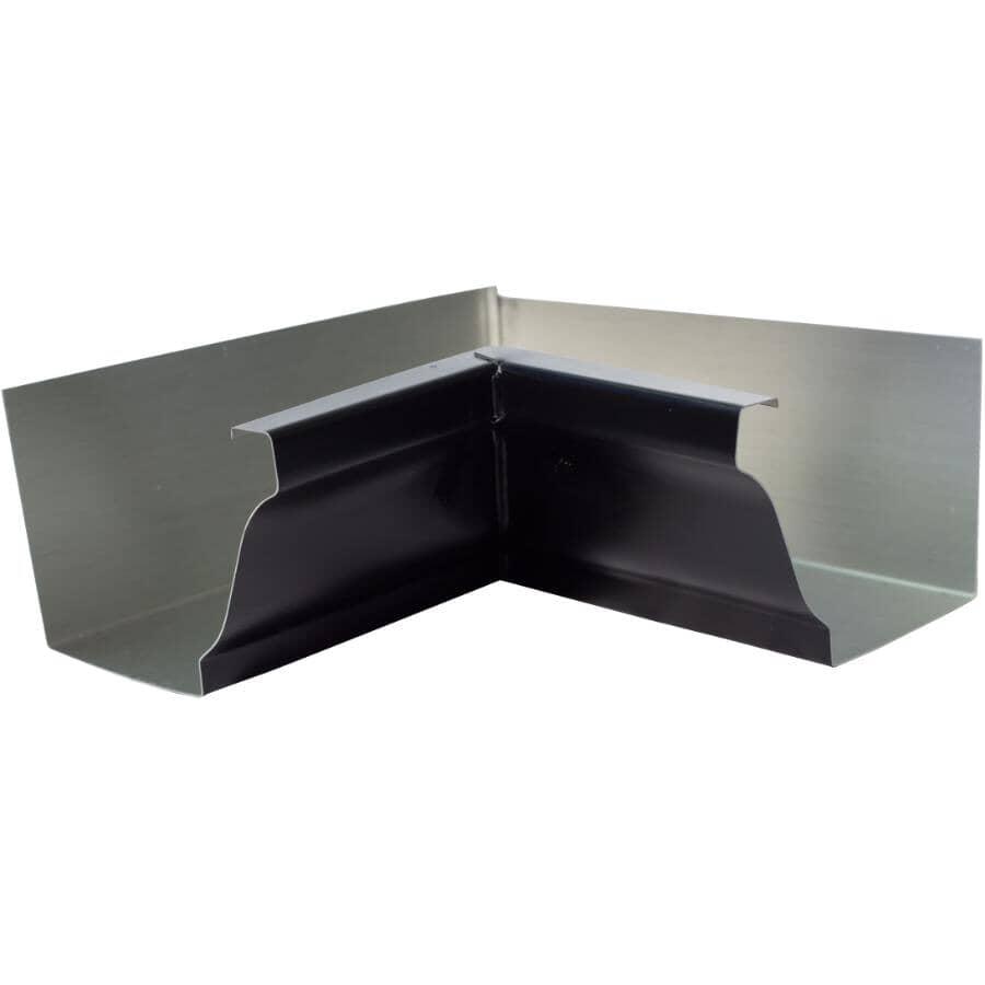 "CITY SHEET METAL:5"" K-Style Black Inside Aluminum Gutter Mitre"