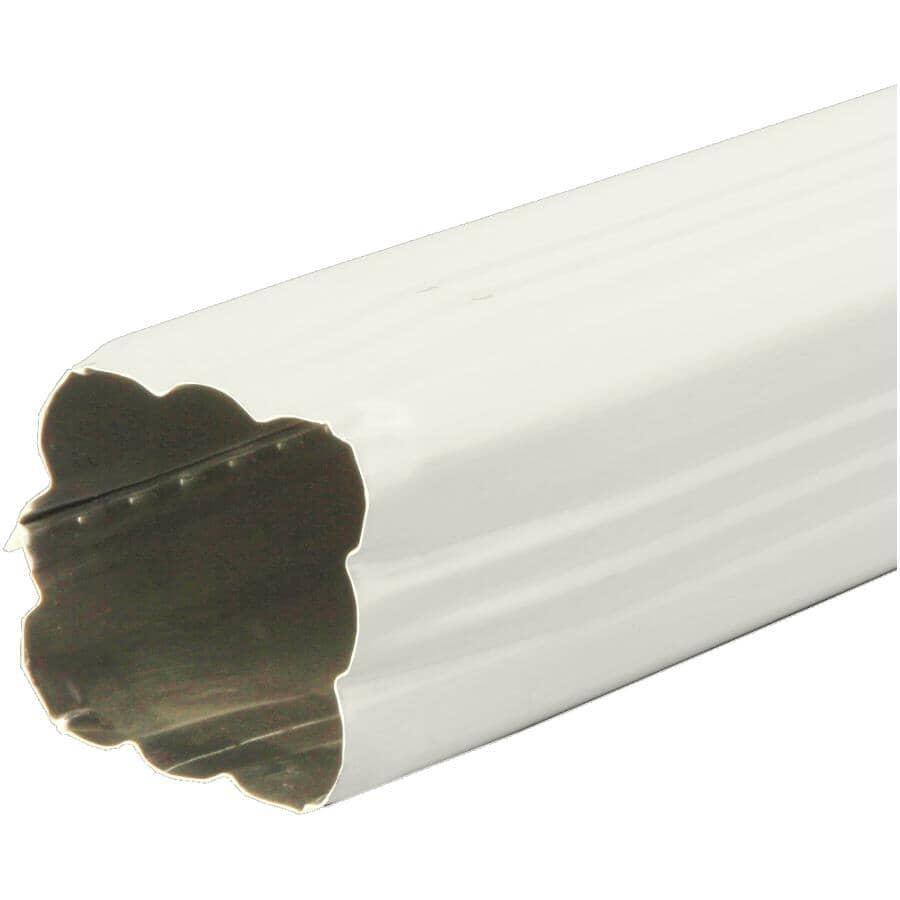 """KAYCAN:2-1/2"""" x 2-1/2"""" x 10' Linen Aluminum Gutter Downpipe"""