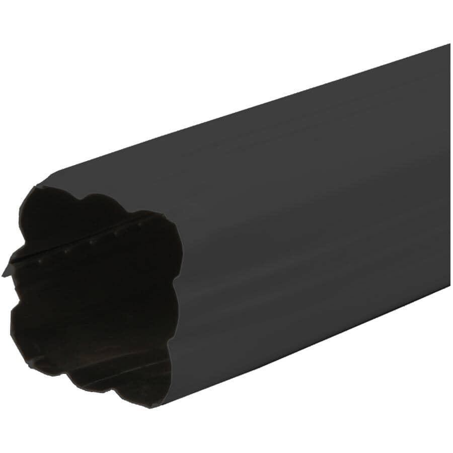 "KAYCAN:2-1/2"" x 2-1/2"" x 10' Low Gloss Black Aluminum Gutter Downpipe"
