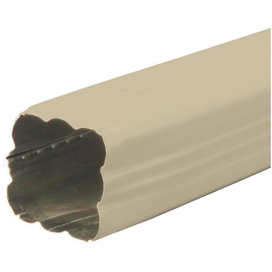"""KAYCAN:2-1/2"""" x 2-1/2"""" x 10' Wicker Aluminum Gutter Downpipe"""
