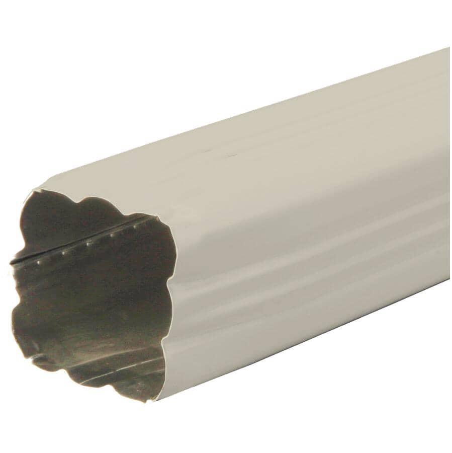 "KAYCAN:2-1/2"" x 2-1/2"" x 10' Mocha Aluminum Gutter Downpipe"