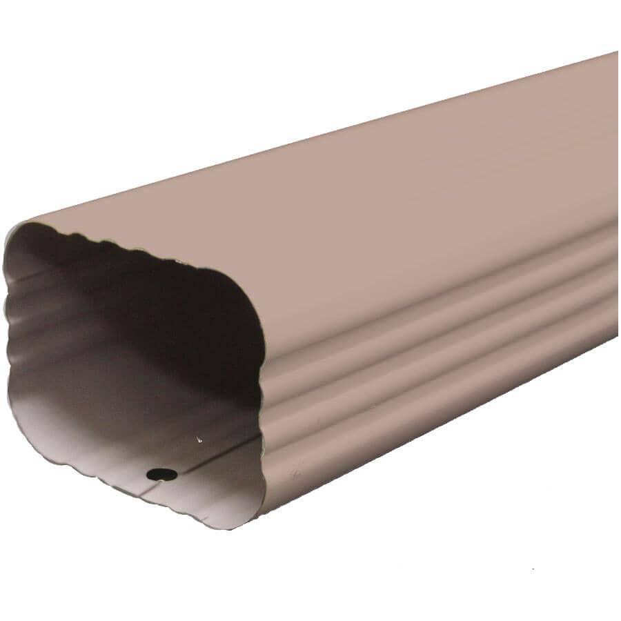 "KAYCAN:2"" x 3"" x 10' Matchcoat Sandalwood Aluminum Gutter Downpipe"
