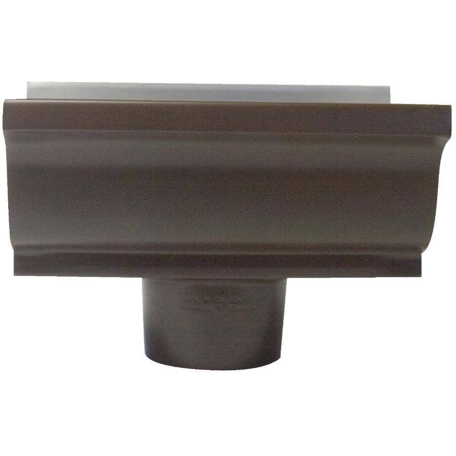 """CITY SHEET METAL:5"""" Brown K Style Aluminum Gutter Centre Drop"""