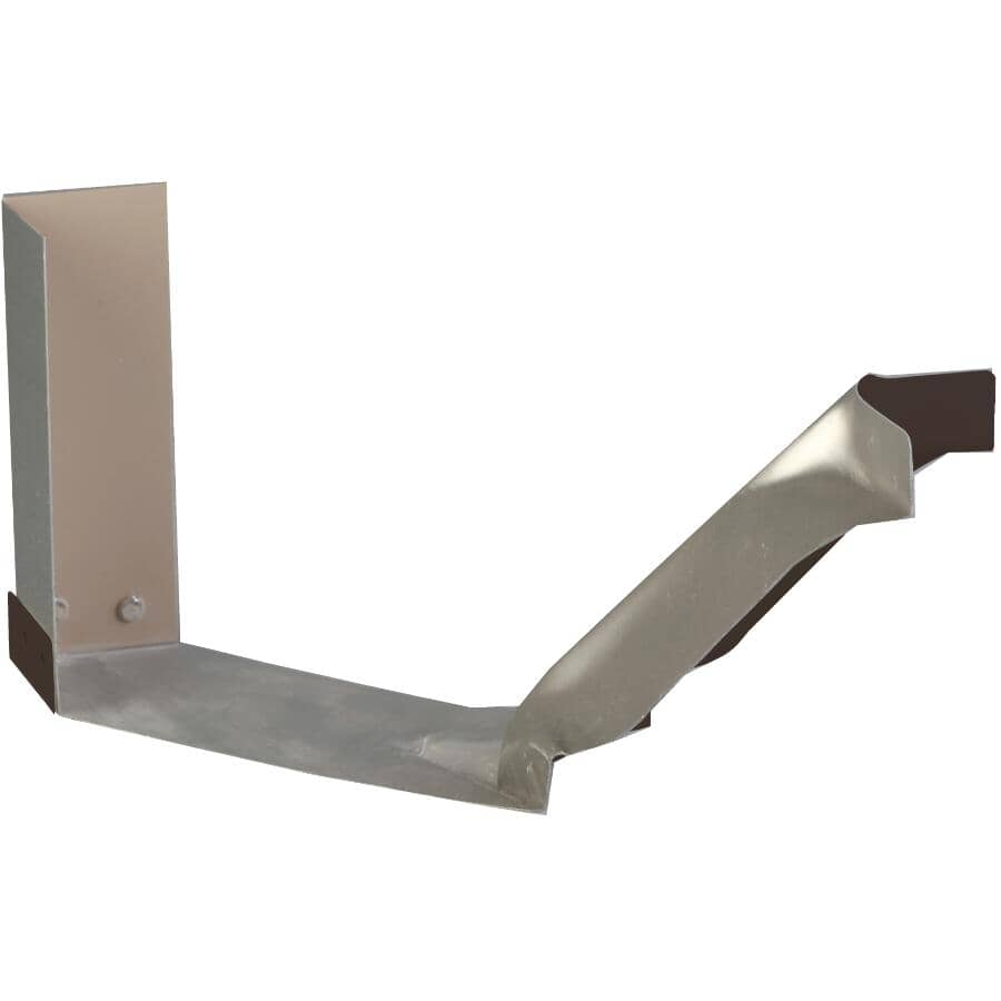 "KAYCAN:5"" K-Style Comm Brown Inside Aluminum Gutter Strip Mitre"