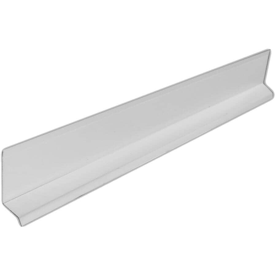 """KAYCAN:1-3/4"""" White Aluminum Gutter Drip Cap"""