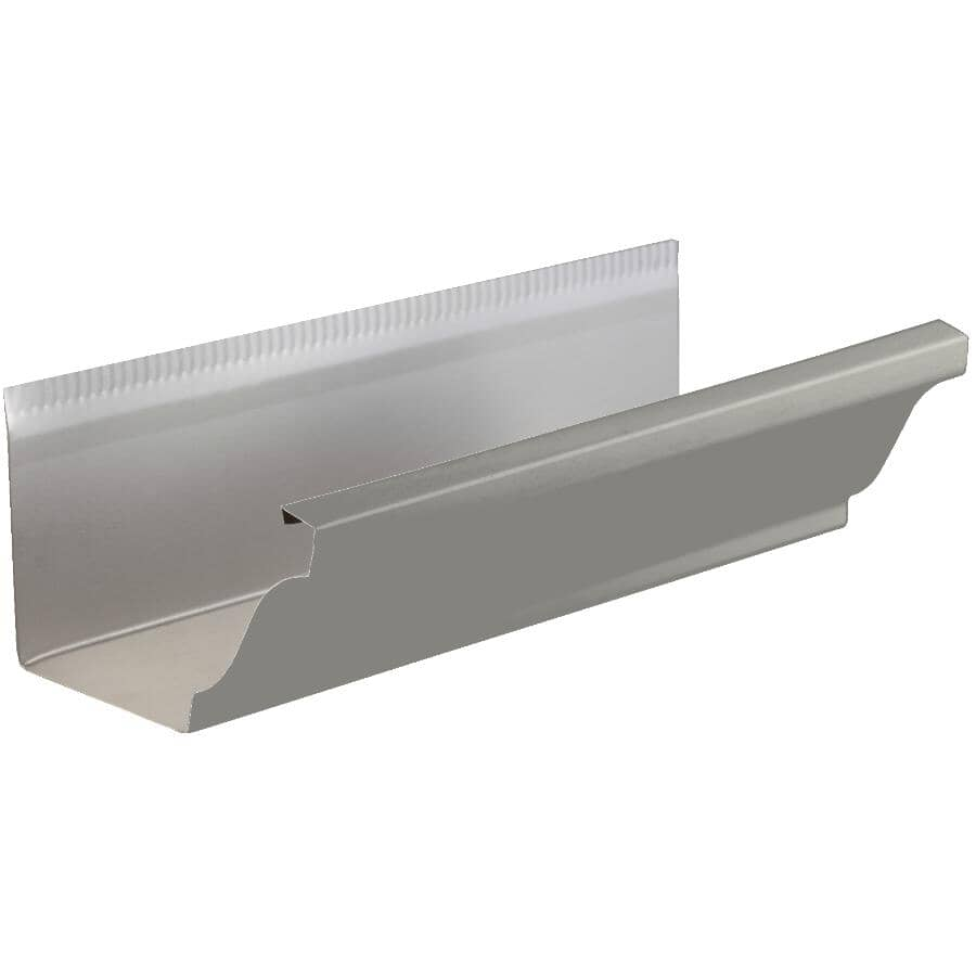 "KAYCAN:5"" x 10' K Style Pearl Grey Aluminum Eavestrough"