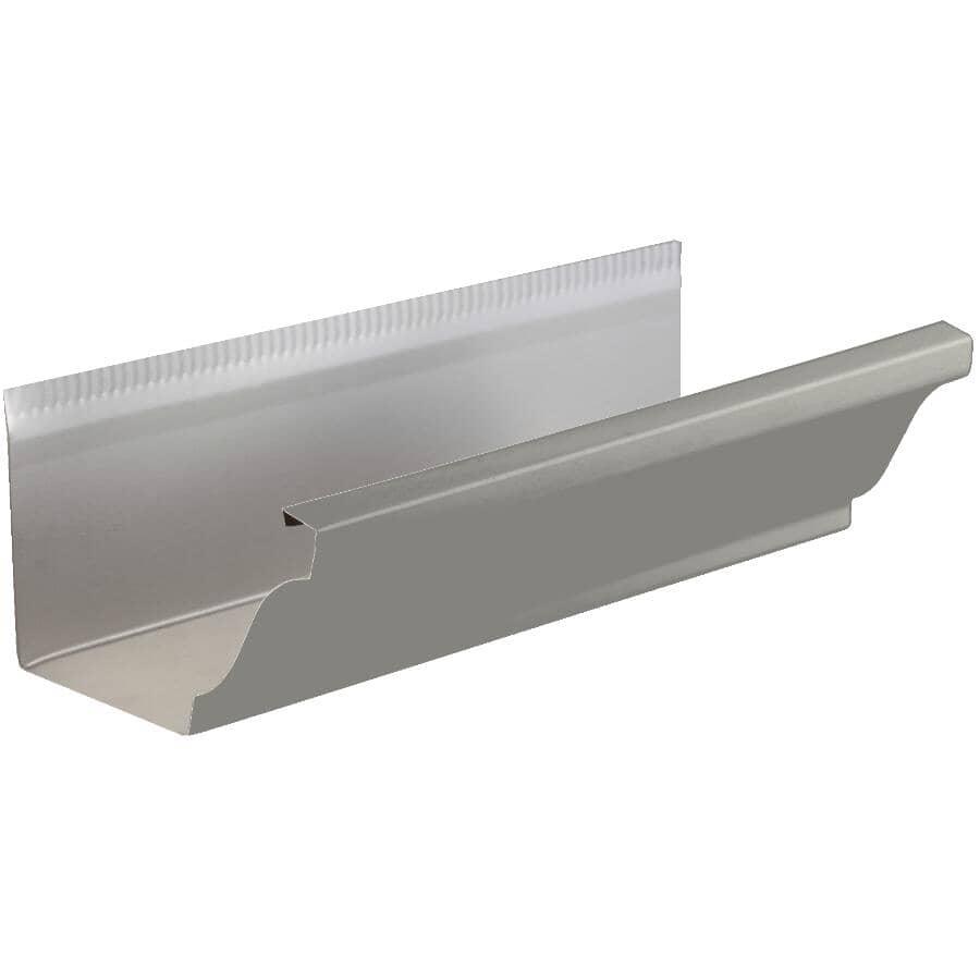 "KAYCAN:5"" x 20' K Style Pearl Grey Aluminum Eavestrough"