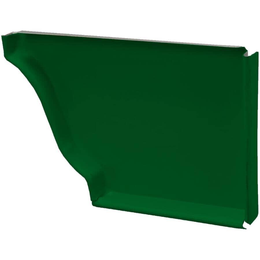 """KAYCAN:5"""" Left Hand K Style Forest Green Semi Gloss Aluminum Gutter End Cap"""
