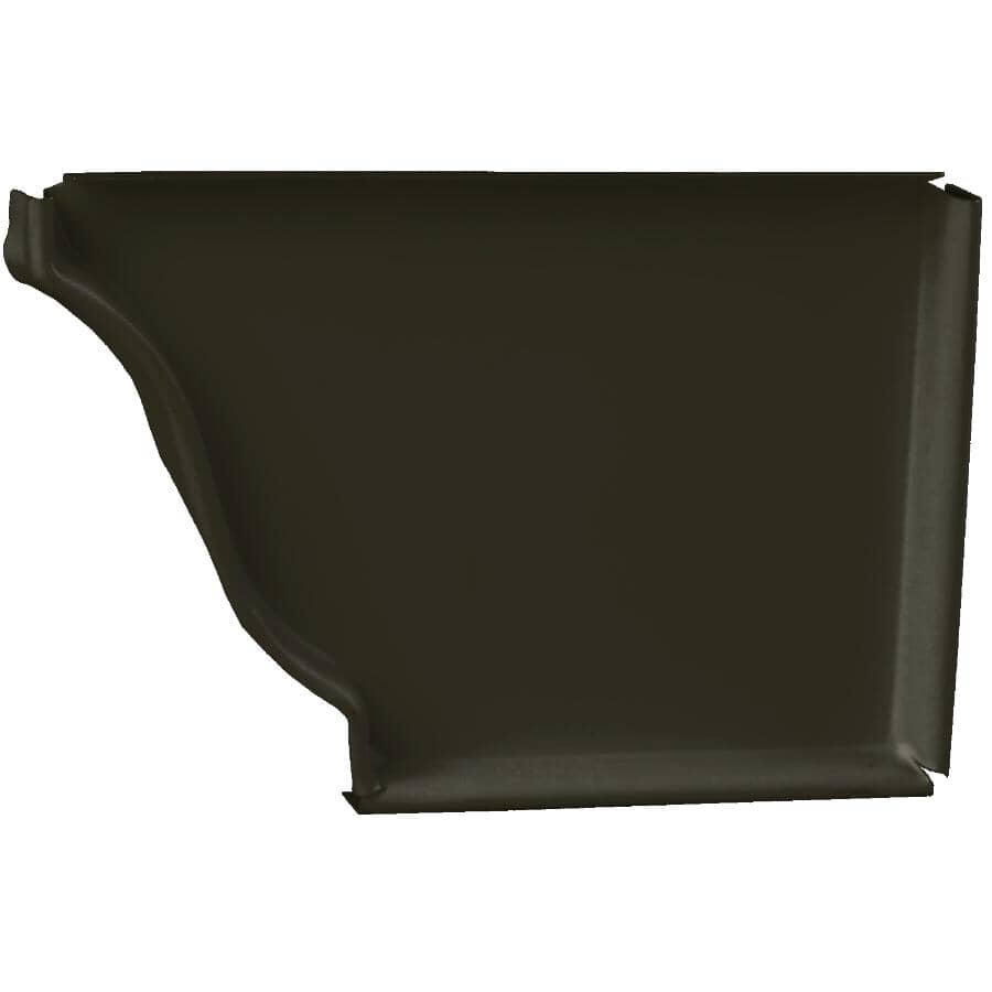 "KAYCAN:5"" Right Hand K Style Bronze Aluminum Gutter End Cap"