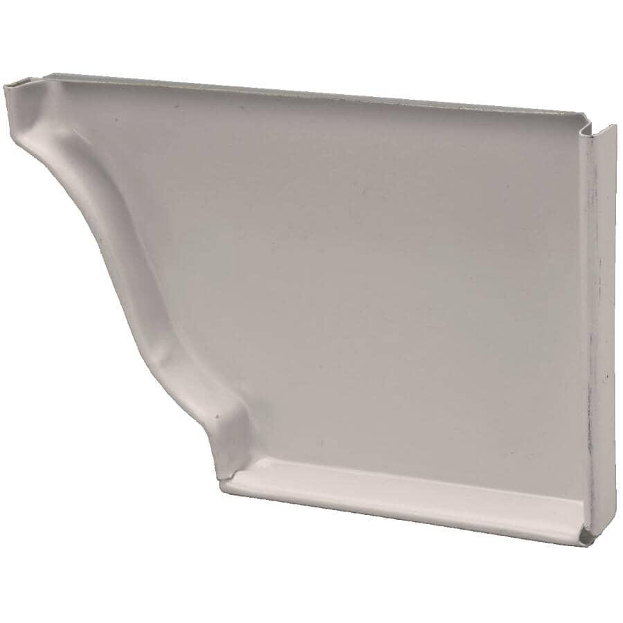 "KAYCAN:5"" Right Hand K Style Matchcoat Sandalwood Aluminum Gutter End Cap"