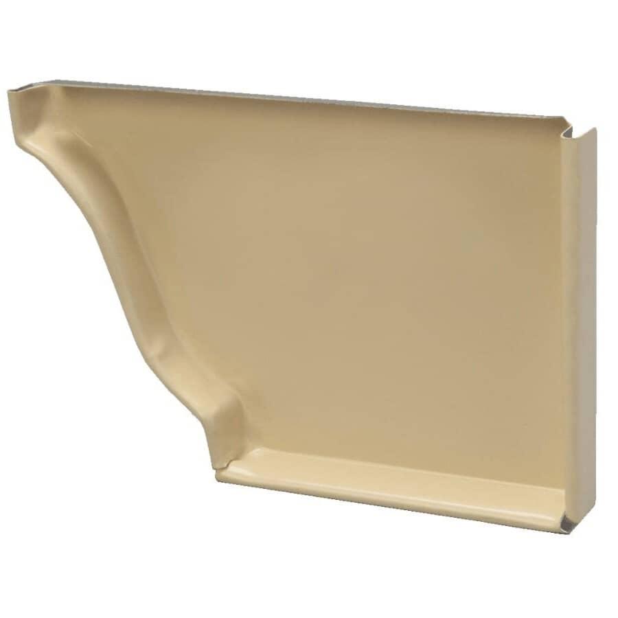 "KAYCAN:5"" Right Hand White Aluminum Gutter End Cap"