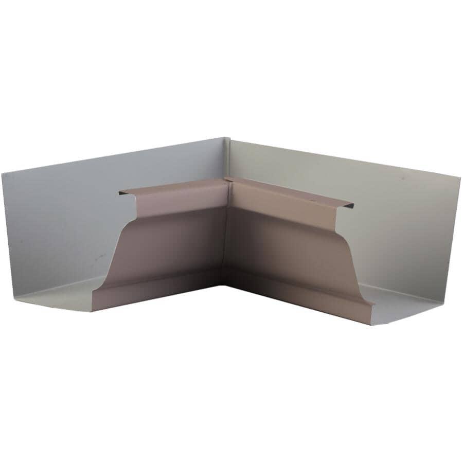 "KAYCAN:5"" K-Style Sandalwood Inside Aluminum Gutter Mitre"
