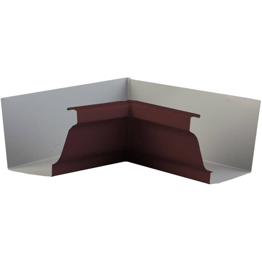 """KAYCAN:5"""" K-Style Chocolate Brown Outside Aluminum Gutter Mitre"""