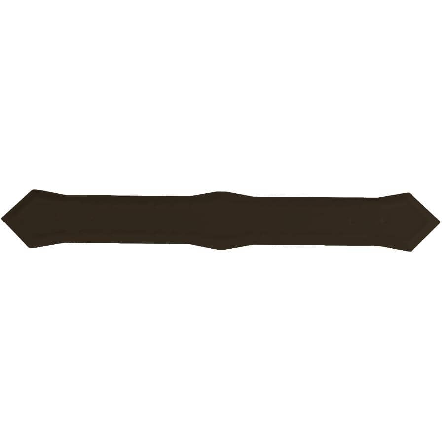 """KAYCAN:5"""" K-Style Commercial Brown Outside Aluminum Gutter Mitre"""