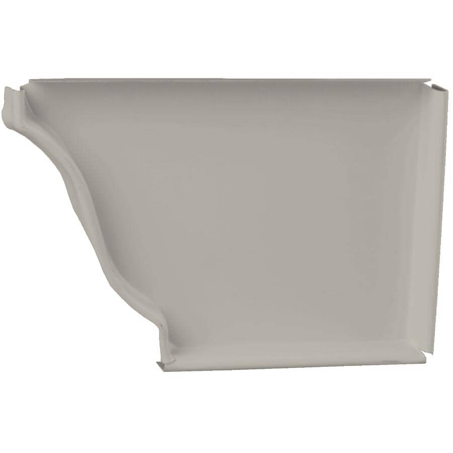 "KAYCAN:5"" Left Hand K Style Low Gloss Wicker Aluminum Gutter End Cap"