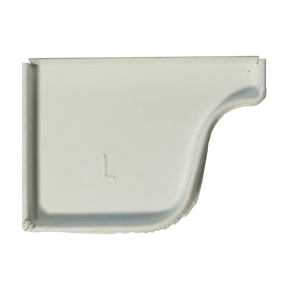 CITY SHEET METAL:White Left Hand OG Style Steel Gutter End Cap