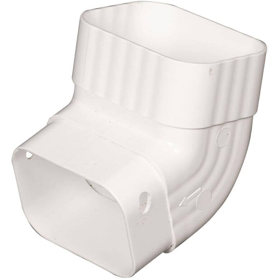 EURAMAX CANADA:White Traditional Type A Vinyl Gutter Elbow