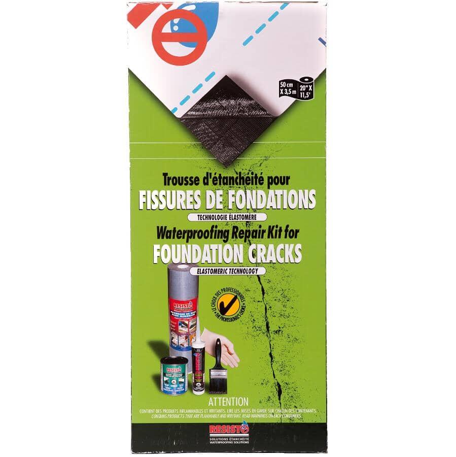 RESISTO:Nécessaire de réparation de fissures de fondation avec membrane