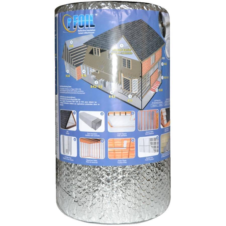 """RFOIL:16"""" x 25' Roll Reflective Foil Double Bubble Foil Insulation"""