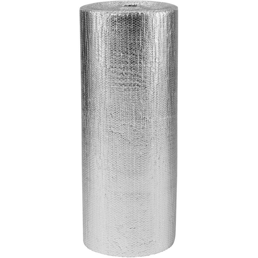 RFOIL:Isolant réfléchissant en aluminium à double épaisseur de bulles en rouleau de 48 po x 125 pi