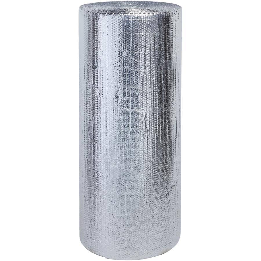 RFOIL:Isolant réfléchissant en aluminium à double épaisseur de bulles pour sous le béton en rouleau de 48 po x 125 pi