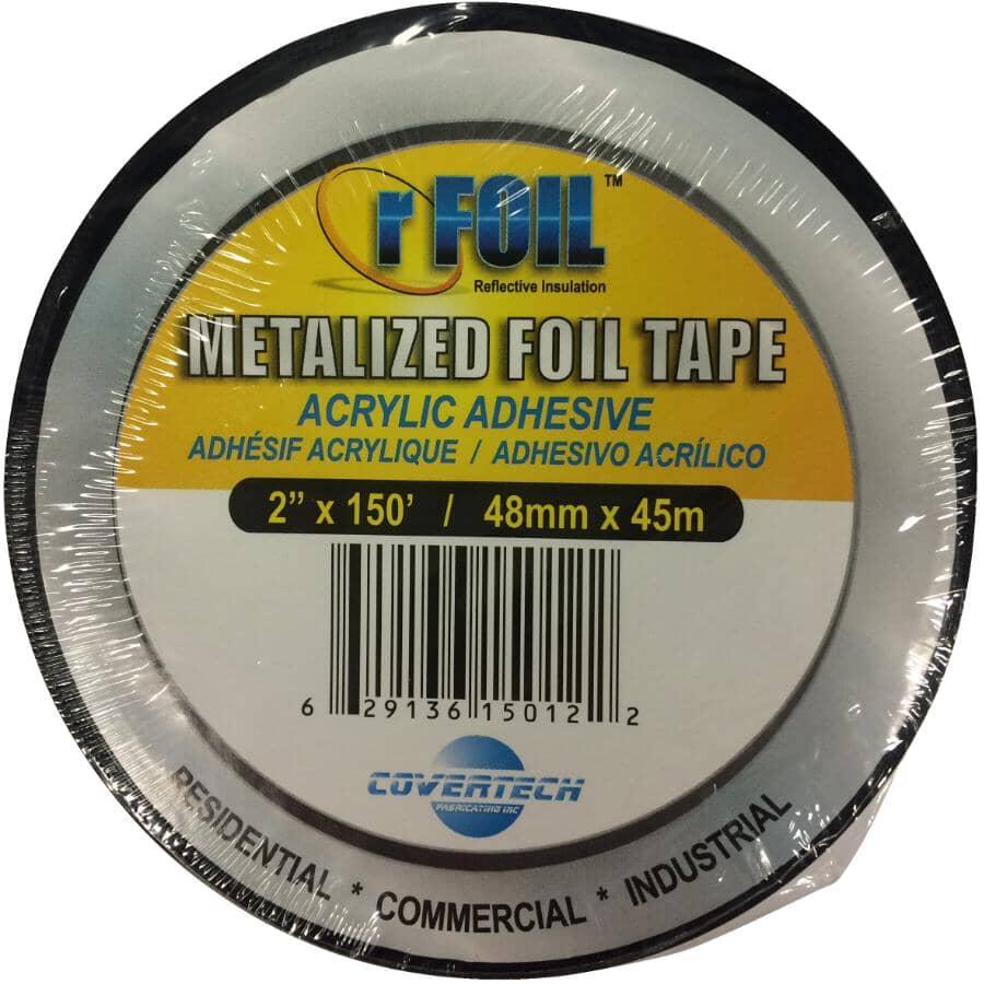 RFOIL:Ruban adhésif en aluminium en rouleau de 2 po x 150 pi