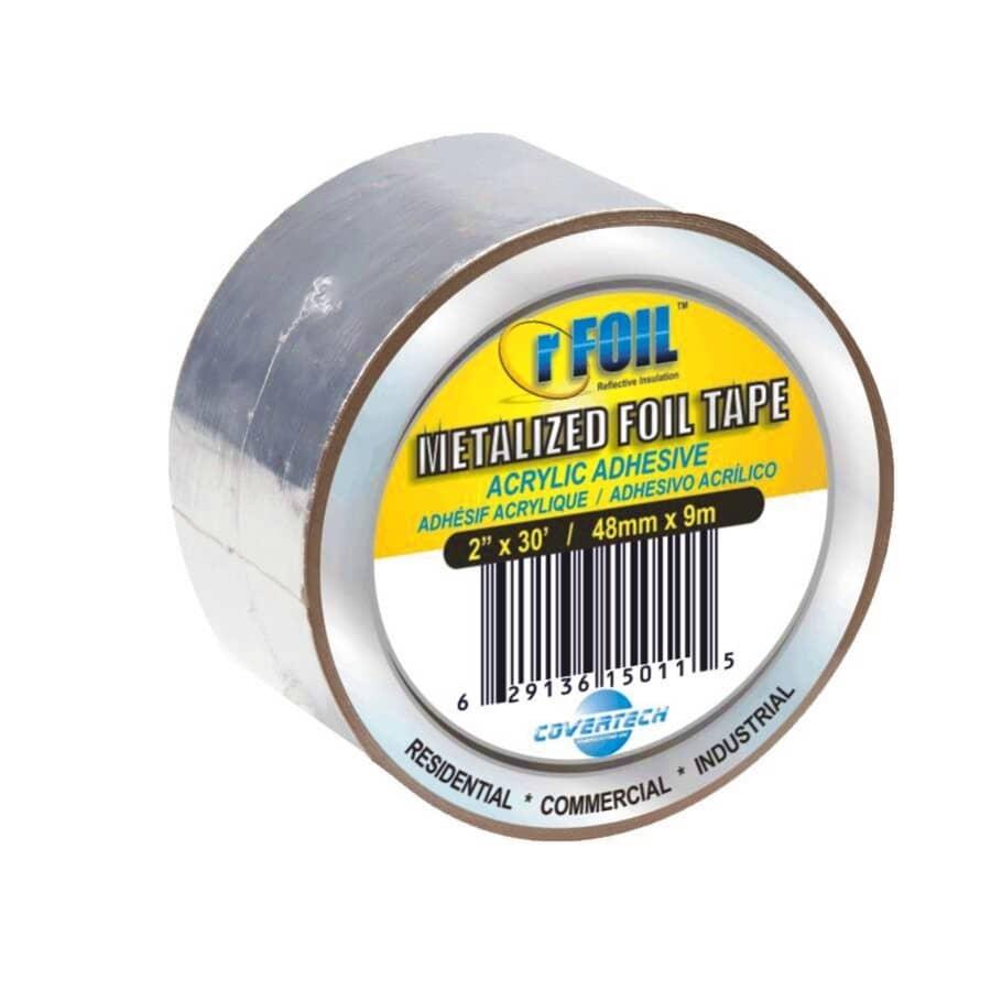 RFOIL:Ruban adhésif en aluminium en rouleau de 2 po x 30 pi
