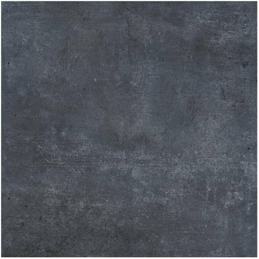 """DURA-TILES:2 Pack 8 sq. ft. 24"""" x 24"""" Ontario Collection Anthracite Exterior Porcelain Tile Flooring"""
