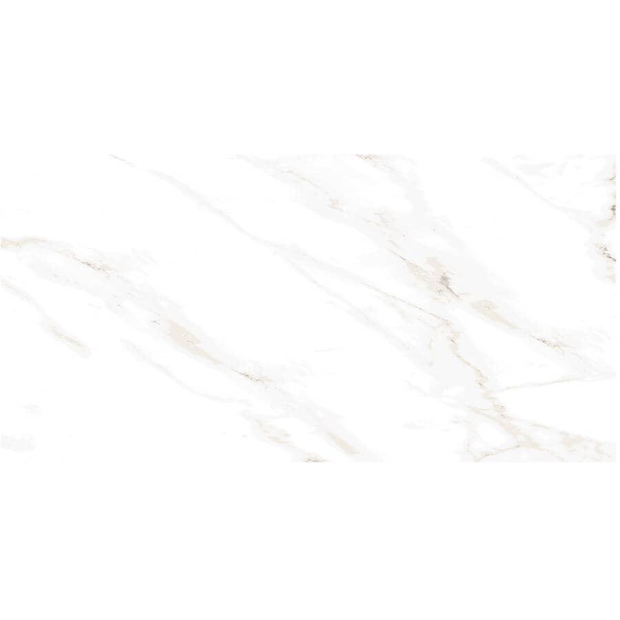 "CENTURA:Naos Collection 12"" x 24"" Porcelain Tile Flooring - White Matte, 15.3 sq. ft."