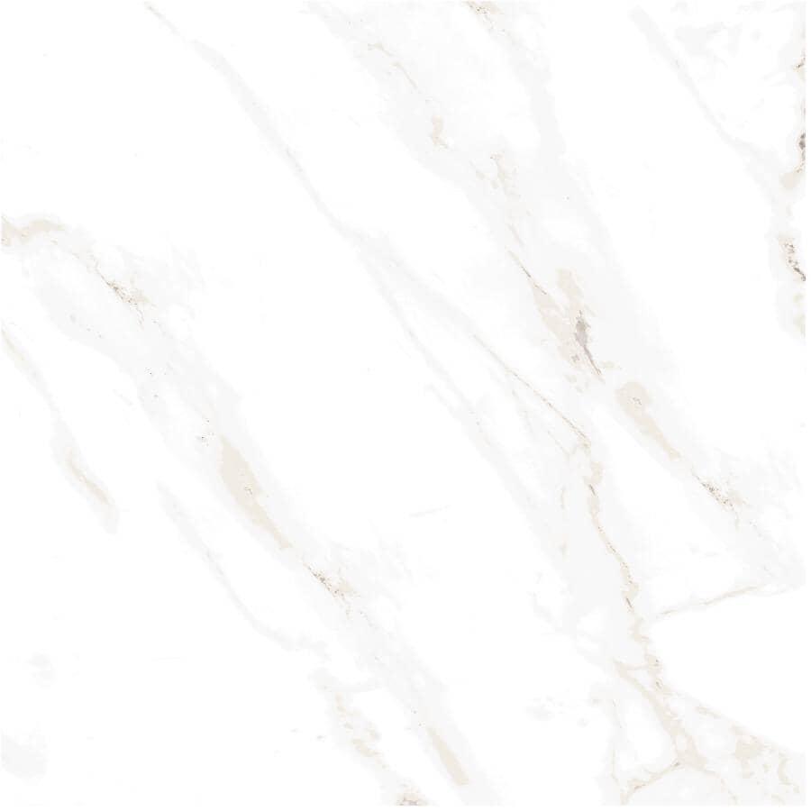 "CENTURA:Naos Collection 24"" x 24"" Porcelain Tile Flooring - White Brillo, 15.83 sq. ft."